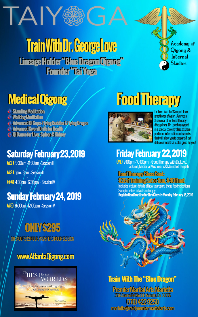 Dr. Loves February 2019 Atlanta Blue Dragon Qigong Workshop